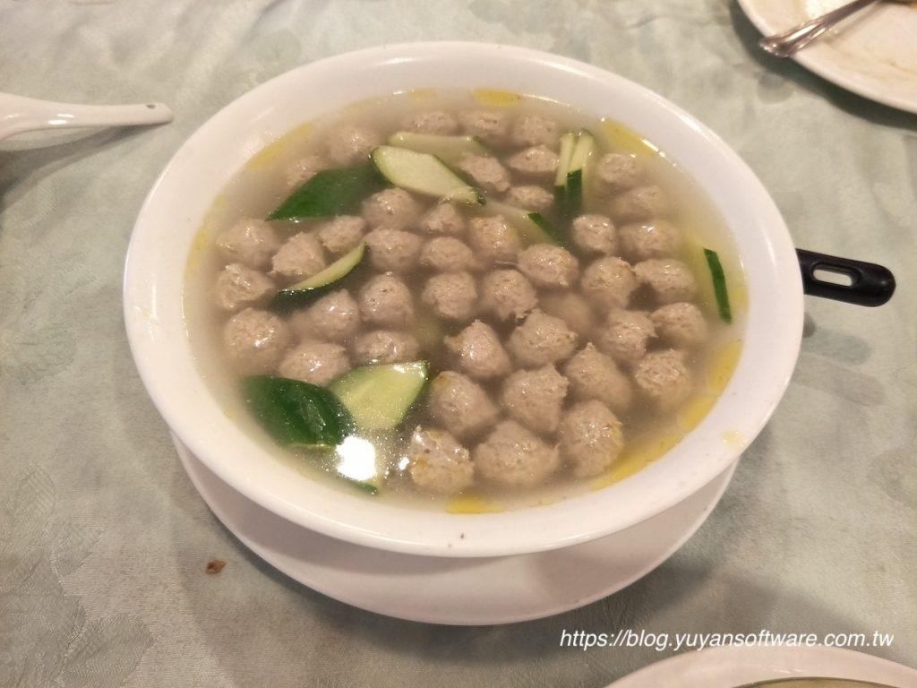台北信義區 宋廚菜館 川丸子湯