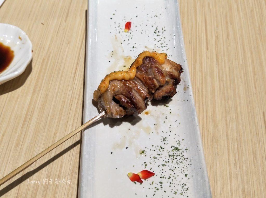 市民大道4段 歐買尬日式海鮮串燒 市民二店 明太子桂丁土雞腿肉串