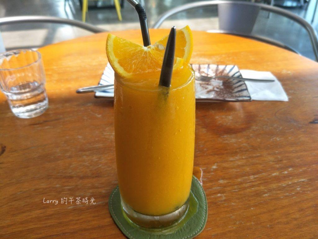 深坑 老街 咖啡 Arc Cafe 香橙芒果冰沙